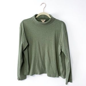 Woolrich Green Turtleneck Long Sleeve Shirt